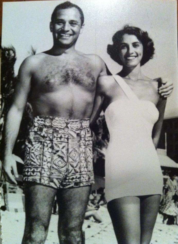 my grandparents on their honeymoon. total babes.