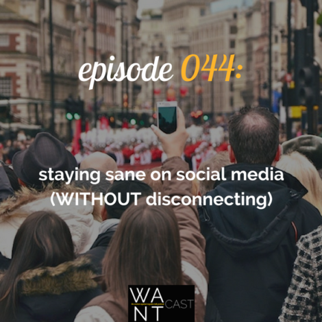 WANTcast 044: Staying Sane On Social Media (WITHOUT Disconnecting)