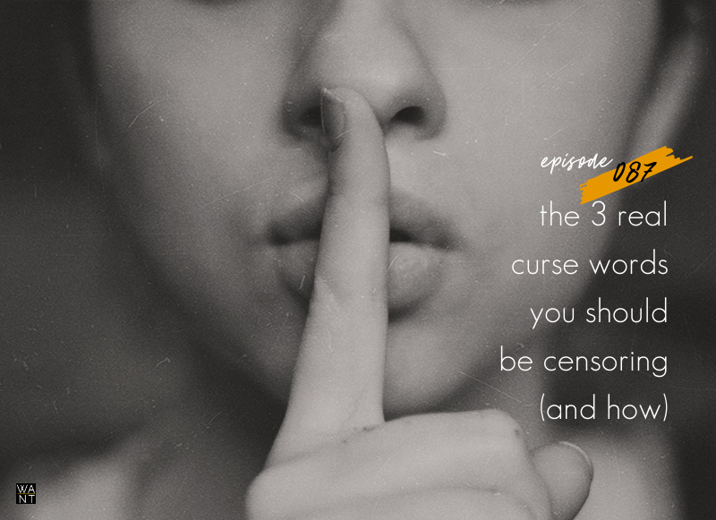 WANTcast 087: The 3 REAL Curse Words You Should Be Censoring (And How)